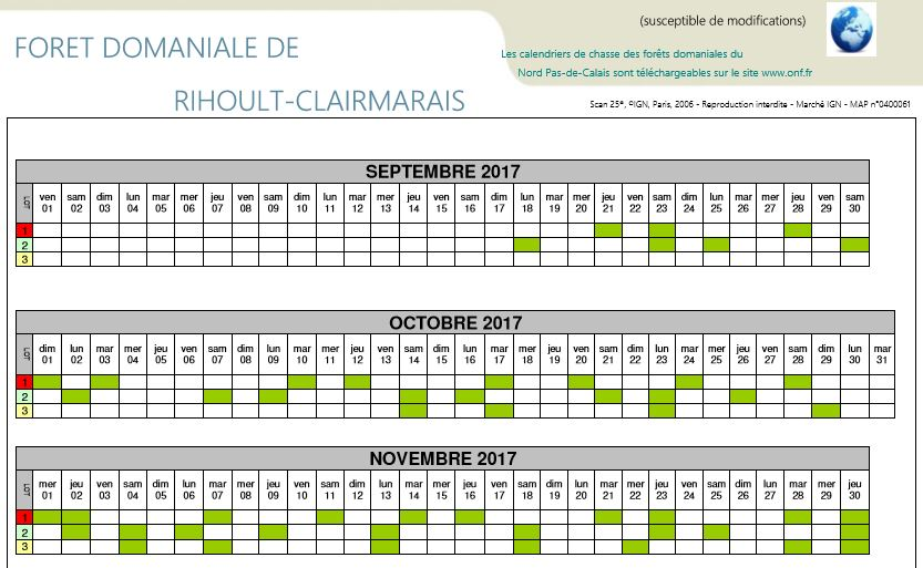 Calendrier foret